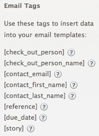 Email tags
