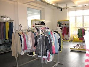 A sunny showroom corner