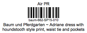 An example sample label